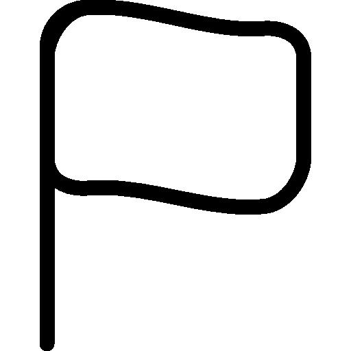 작은 빈 깃발  무료 아이콘