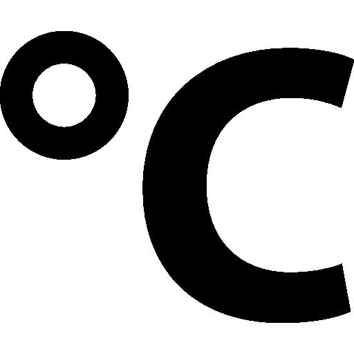 Celsius degrees symbol of temperature  free icon
