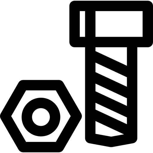 Bolt and nut  free icon