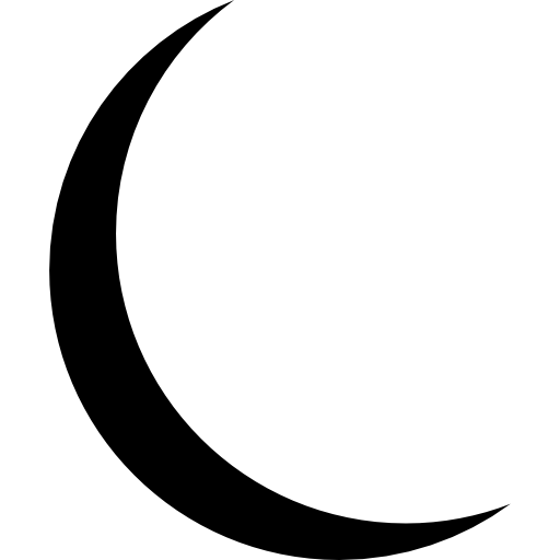 Thin Moon  free icon