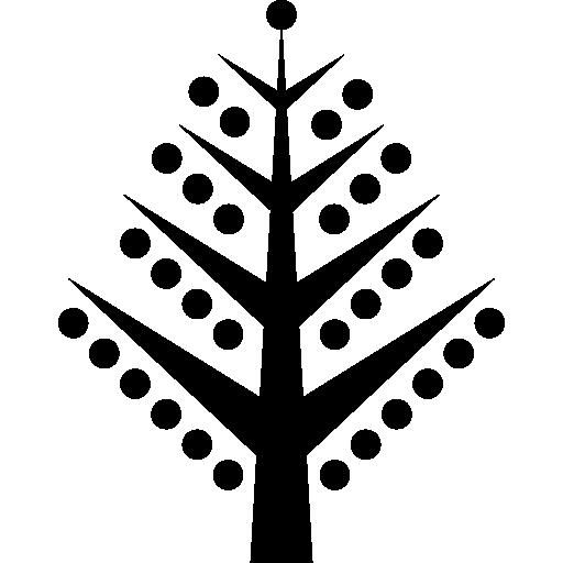 Елочные ветви с шарами  бесплатно иконка