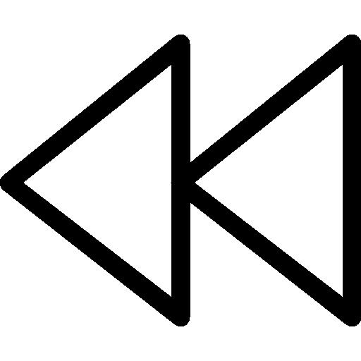 Rewind control button  free icon