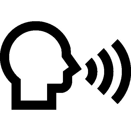 Speaking  free icon