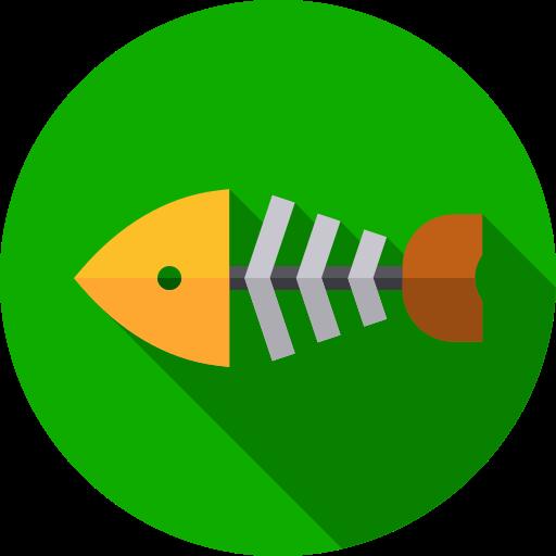 squelette de poisson  Icône gratuit