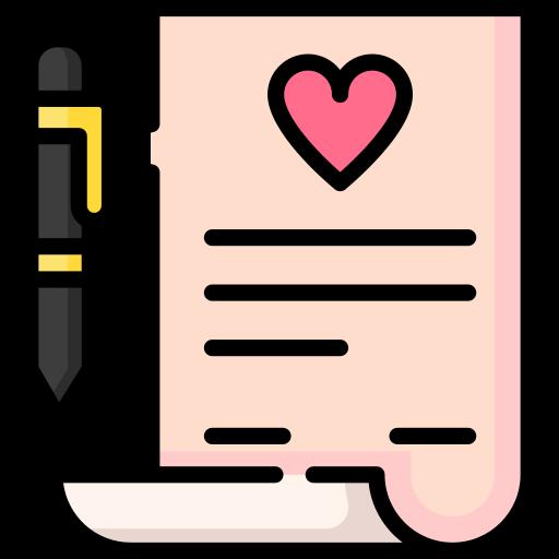 contrat de mariage  Icône gratuit