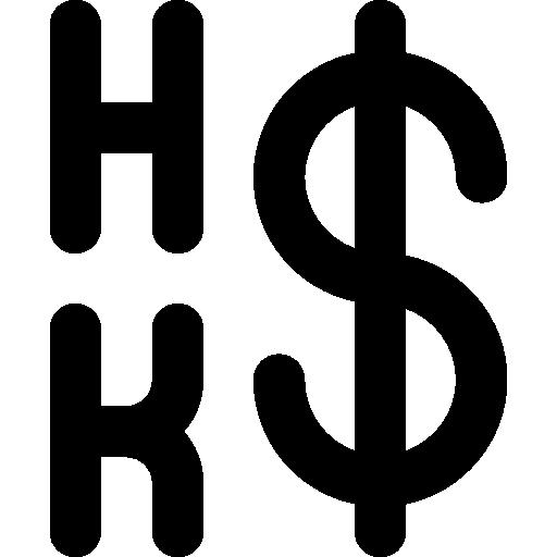 Hong kong dollar  free icon