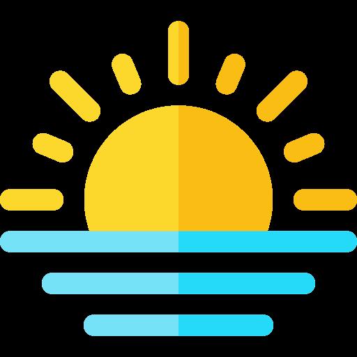 le coucher du soleil  Icône gratuit