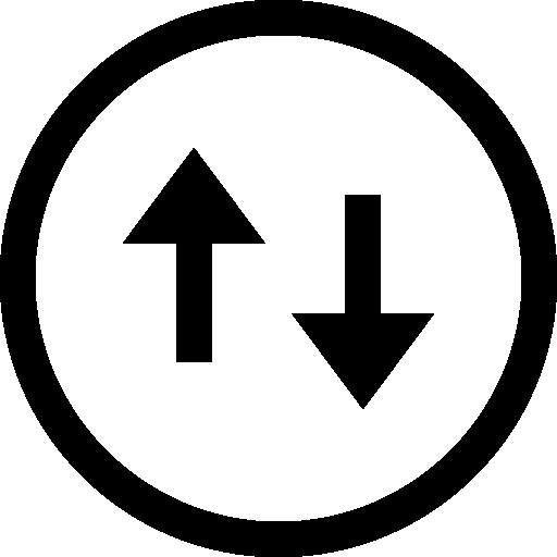 Two arrows  free icon