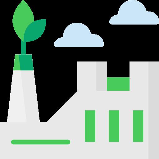 usine eco  Icône gratuit