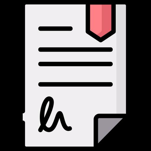 Contrato  icono gratis