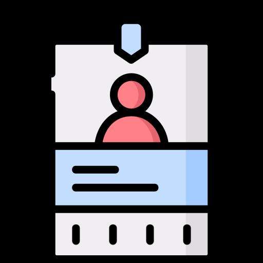 Carnet de identidad  icono gratis