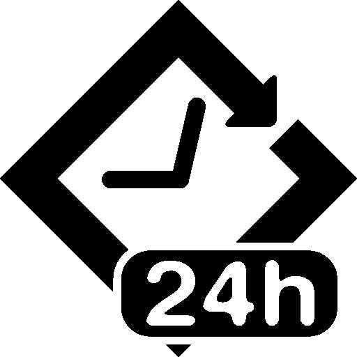 symbole 24 heures  Icône gratuit
