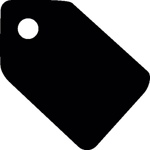 Black shop tag  free icon