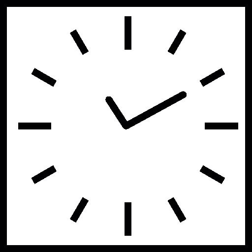 montre carrée  Icône gratuit