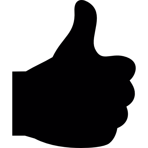 thumb finger up  free icon
