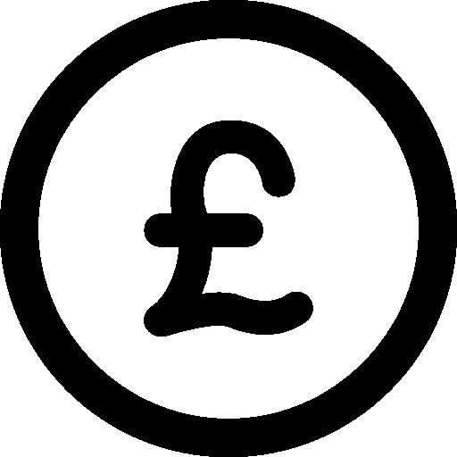Фунт стерлингов  бесплатно иконка