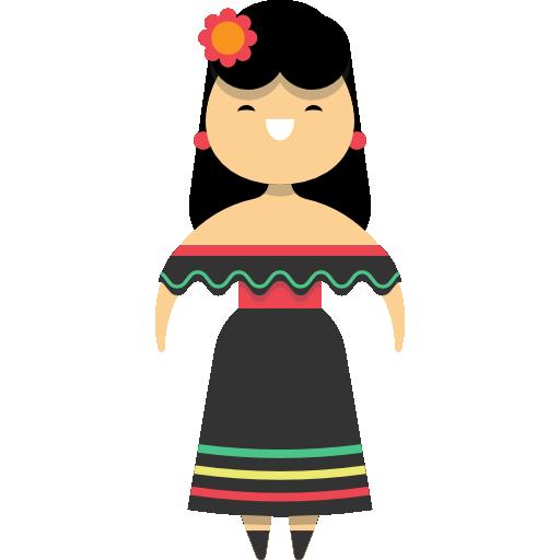 mujer mexicana  icono gratis