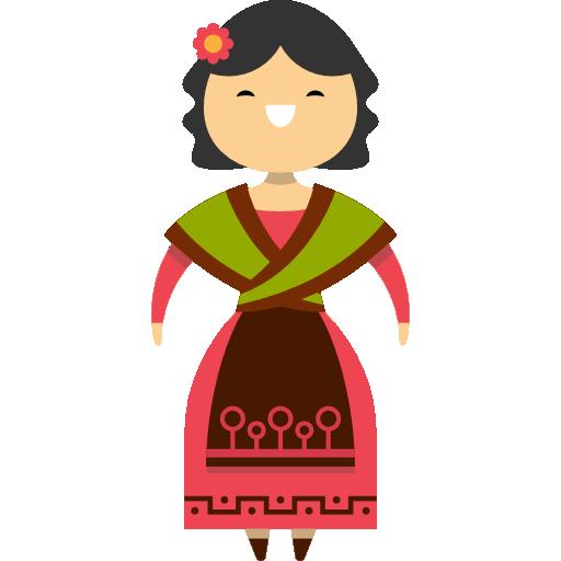 Spanish woman  free icon