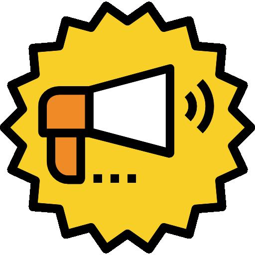 메가폰  무료 아이콘