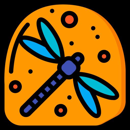 호박색의 말린 곤충  무료 아이콘