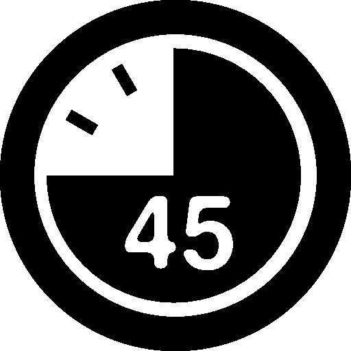 45 secondes sur l'horloge  Icône gratuit