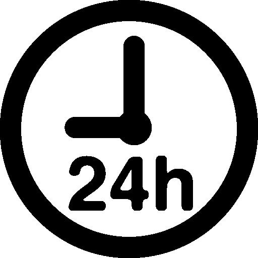 horloge de 24 heures  Icône gratuit