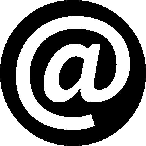 At symbol inside a circle  free icon