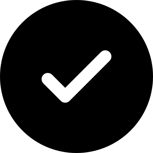 Check mark button  free icon