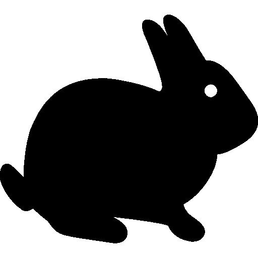 앉아있는 토끼  무료 아이콘