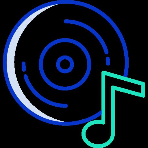 disque de musique  Icône gratuit