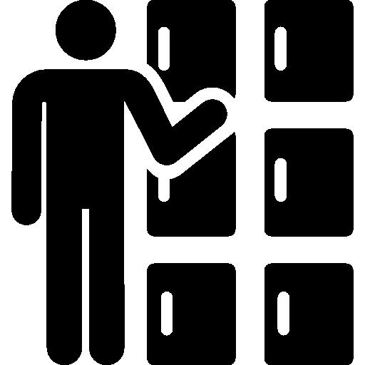 Lockers  free icon