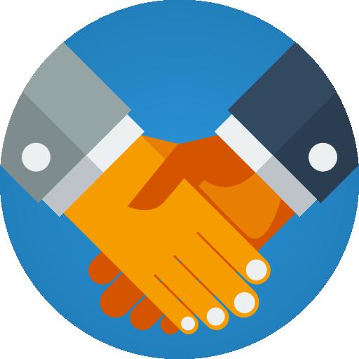 Business partnership  free icon