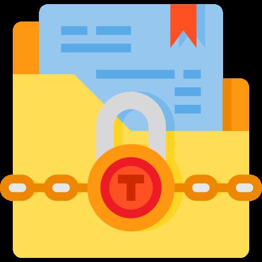 Confidential folder  free icon