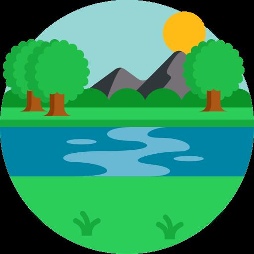 Río  icono gratis