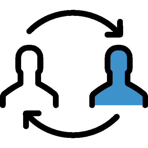 Sharing  free icon