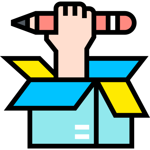 Think out of the box  free icon