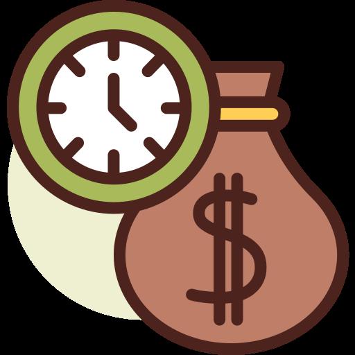 le temps, c'est de l'argent  Icône gratuit