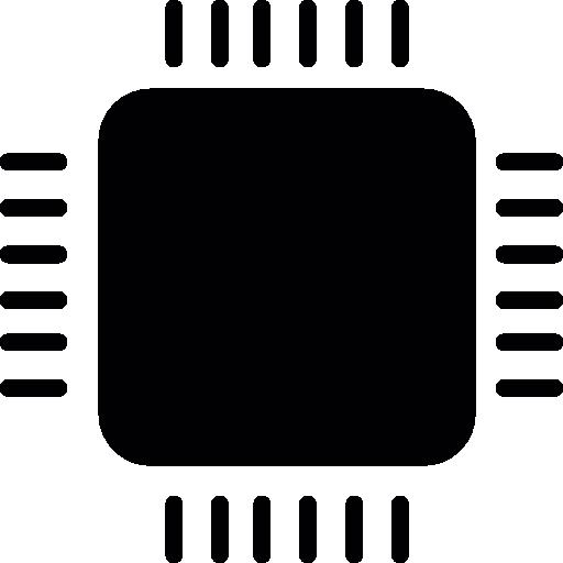 Computer micro chip  free icon