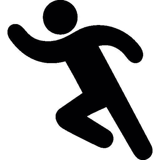 Man running  free icon