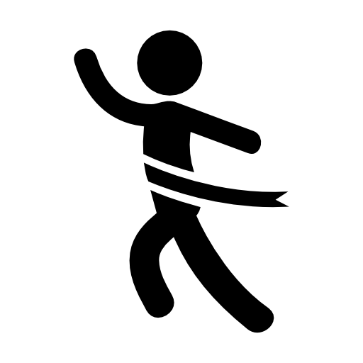 결승선에서 달리기  무료 아이콘