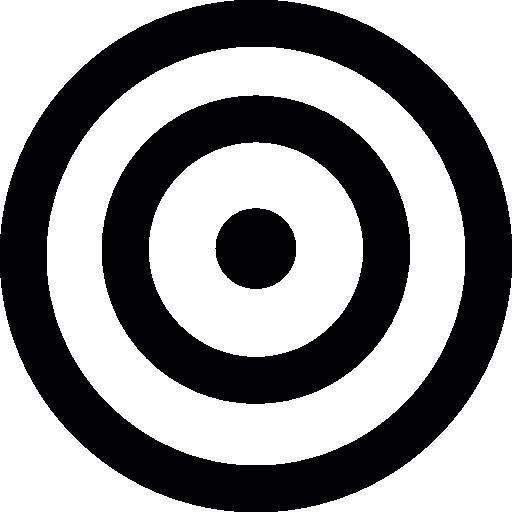 Target circles  free icon