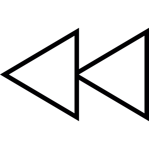 Rewind button arrows  free icon