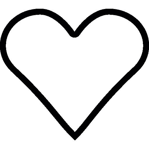 coeur romantique  Icône gratuit