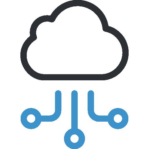 Cloud computing  free icon