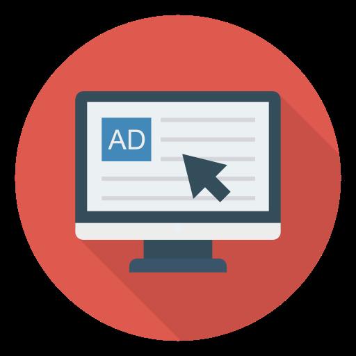 Он-лайн реклама  бесплатно иконка