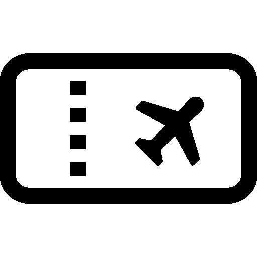 Airplane ticket  free icon