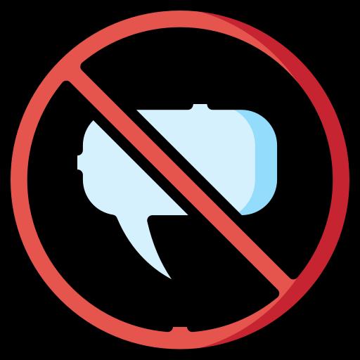 ne parle pas  Icône gratuit