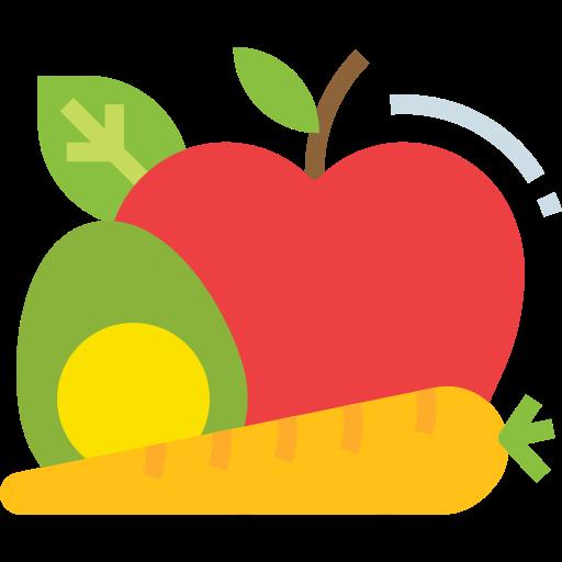 Alimentos saludables  icono gratis