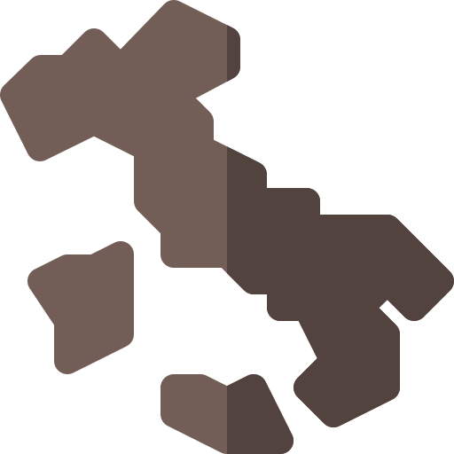 Italy map  free icon