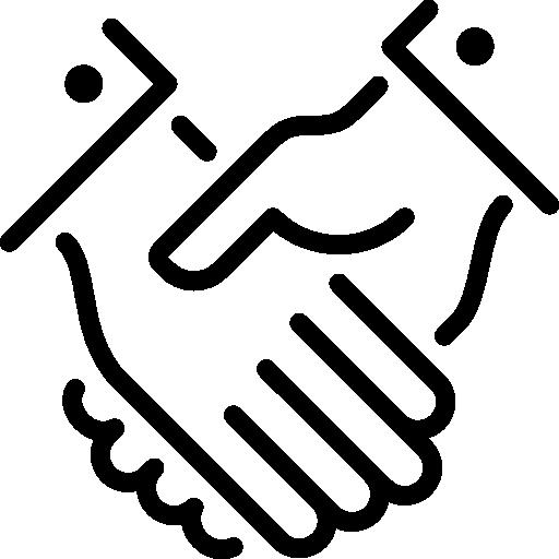apretón de manos  icono gratis